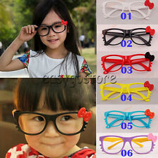 NEW Kids Boys Girls Kawaii Hello Kitty Bow Bowtie Glasses Frame Costume NO LENS