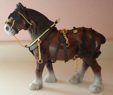 "Vintage Clydesdale Horse Figurine 9"" TALL"