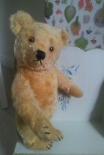 "Antique vintage steiff 12""  jointed teddy bear golden mohair"