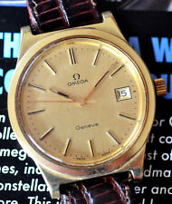 Attractive Vintage 1975 Omega Geneve Cal 1030 Hacking Seconds Watch Runs Great