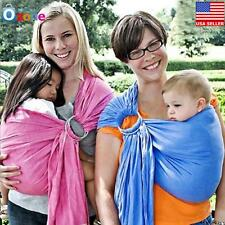 Baby Ring Sling Carrier Pouch Wrap Newborn to Toddler 5 in 1 Cotton Blue