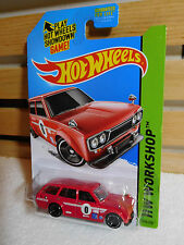 HOT WHEELS 2014 HW WORKSHOP HW GARAGE #206 '71 DATSUN BLUEBIRD 510 WAGON