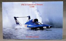 1994 PICO AMERICAN DREAM U100 card promo print photo hydroplane boat racing
