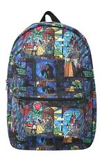 Disney Beauty & The Beast Stained Glass School Book Bag Backpack New With Tags!