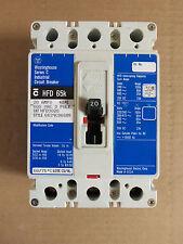 Westinghouse HFD 65k 3 pole 20 amp 600v HFD3020 Circuit Breaker Blue Paper Label
