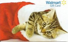 WalMart Christmas Tiger Kitten Kitty In Stocking Holiday 2013 Gift Card FD-36225