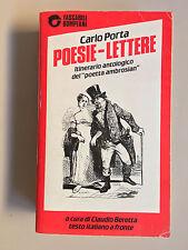 Poesie - Lettere di Carlo Porta Tascabili Classici 18 Ed. Bompiani 1988