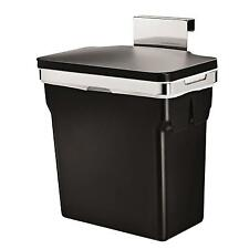 Kitchen Cabinet Bin BUILT IN Hook Rectangular Steel Frame Plastic Door Bucket