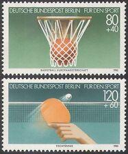 Alemania (B) 1985 Basketball/Tenis De Mesa/juegos de deporte// Fondo De Deportes 2v Set (n25069)