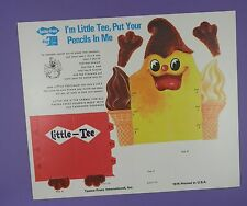 Tastee-Freez Unused Activity Sheet 1976 - Little Tee Pencils Holder
