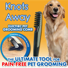Knot Away Out Electric Pet Grooming Comb for cat dog pet [TV]