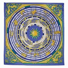 Jackie Kennedy Blue Zodiac Handmade Silk 35in Fashion Scarf Camrose & Kross