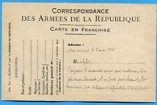 CPA: Correspondance des Armées de la République  / Guerre 14-18