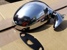 Chrome r/h door Mirror, Mazda MX5 mk1 1.6 1.8, 89-98 Eunos MX-5, right hand, NEW