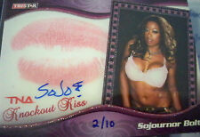 TNA Sojournor Bolt 2009 Knockouts Authentic Autograph Kiss Card SN 2 of 10