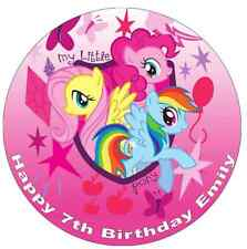 """My Little Pony Cake Topper Personalised 7.5"""" Edible Wafer Paper Birthday Partys"""
