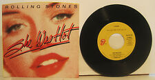 "Rolling Stones ""She Was Hot"" 45rpm w/ PS NM Store Stock"