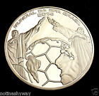 WORLD CUP 2014 Silver Coin Goal Net Statue of Jesus Christ Soccer Football Retro