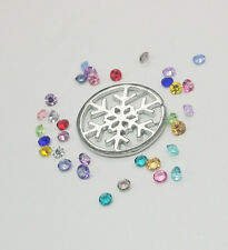 22mm Silver Snowflake Floating Charm for Glass Living Memory Locket 100Ps Bead