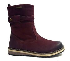 New $120 GABOR Kids Girls Boots Winter Snow LEATHER Burgundy SIZE 11 USA/29 EURO