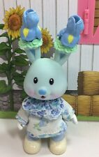 Vintage Tea Bunnies Bunny Me Tea Party Iris Bouquet Blue Rabbit Dress Toy