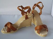New Sperry Top-Sider Saylor Brown Wedges Sandals Heels  Size 10 M
