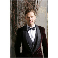 Benedict Cumberbatch in Red Velvet Tuxedo Jacket Bowtie 8 x 10 inch photo
