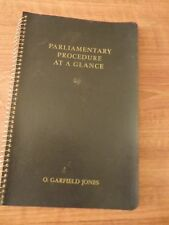 Parliamentary Procedure At A Glance (1949 Softcover) O. Garfield Jones