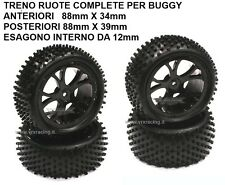 TRENO RUOTE X BUGGY ANTERIORI E POST. ESAGONO 12 mm OFF ROAD VRX 10300BK 10301BK