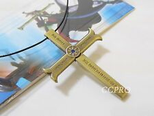 Anime One Piece Dracule Mihawk's Cross Shape Knife & Scabbard Pendant Necklace