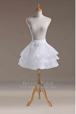 Above Knee Length Lace Edge Crinoline Petticoat Skirt Silps Bridal Cocktail TUTU