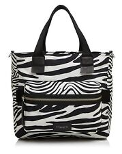 NWT Marc Jacobs Zebra Printed Biker Baby Shoulder Bag Off White/Multi $320