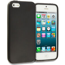 Black TPU Rubber Soft Case Skin Cover for iPhone 5 5S 5th