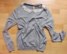 Lace and pearl collar lightweight vintage style jumper