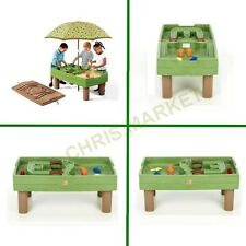 8-piece Kids Step2 Naturally Playful Sand and Water Activity Table Umbrella