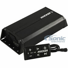 Kicker PXIBT100.2 100W RMS 2-Channel Bluetooth Weatherproof Compact Amplifier