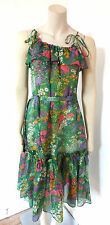 Vintage 1970s 70s DL Barron London Hippy Boho Summer Dress UK Size 8 - 10