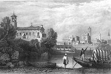 Italy, RIMINI TEMPIO Malatestiano Castel Sismondo ~ Old 1830 Art Print Engraving