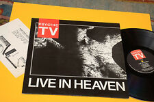 PSYCHIC TV LP LIVE IN HEAVEN ORIG UK 1987 EX++ TOP AUDIOFILI