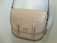 NWT Ralph Lauren Lowell Leather Saddle Bag Purse Messenger Stone NEW