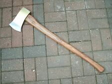 7 LB SOLID FORGED STEEL HICKORY SHAFT FELLING AXE