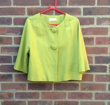 Wallis Petite Vintage 50's Style Green Cropped Swing Jacket Ideal For Events 14