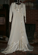 Genuine Vintage 50-60's Handmade Custom Ivory Wedding Gown With Hat