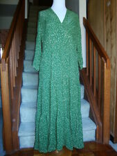 New April Cornell Green Dot Dress Tiered 2 pc M Medium Vintage Romantic Polka
