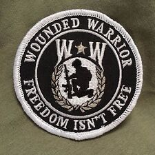 Wounded Warrior Freedom Isn't Free Round Military Patch