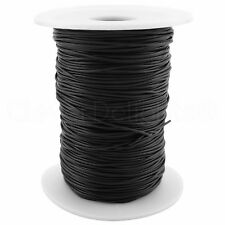 """Black Solid Rubber Cord - 1mm Round - 10 Yards - Beading Craft Necklace - 1/32"""""""