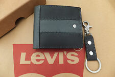 Levi's Leather Wallet & Portachiavi Set Bi-fold Portafoglio Regalo 2in1 BNWT RRP £ 49