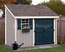 4' x 10' Storage Utility Garden Shed / Building  Plans, Design #10410