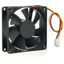 12V DC 3 pines 80 80 25mm CPU Protección PC Carcasa Ventilador Enfriador Fan