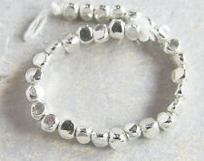 Karen Hill Tribe Silver 30 Faceted Beads 3.5x3mm.